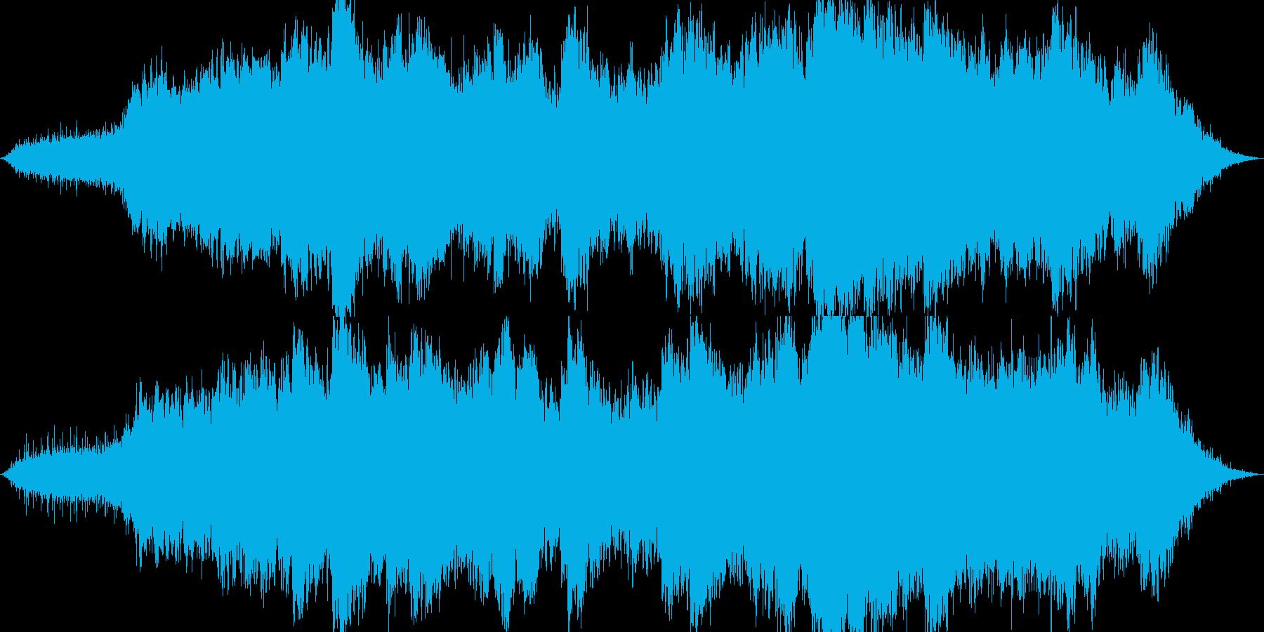 暖かく神秘的なヒーリング曲の再生済みの波形