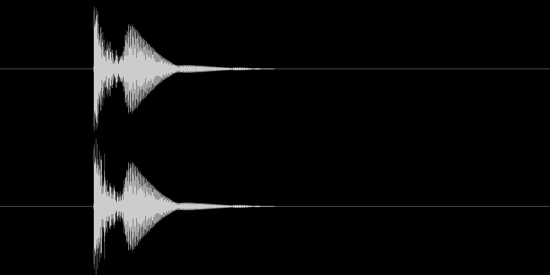 ブリュ(何かを漏らす効果音)の未再生の波形