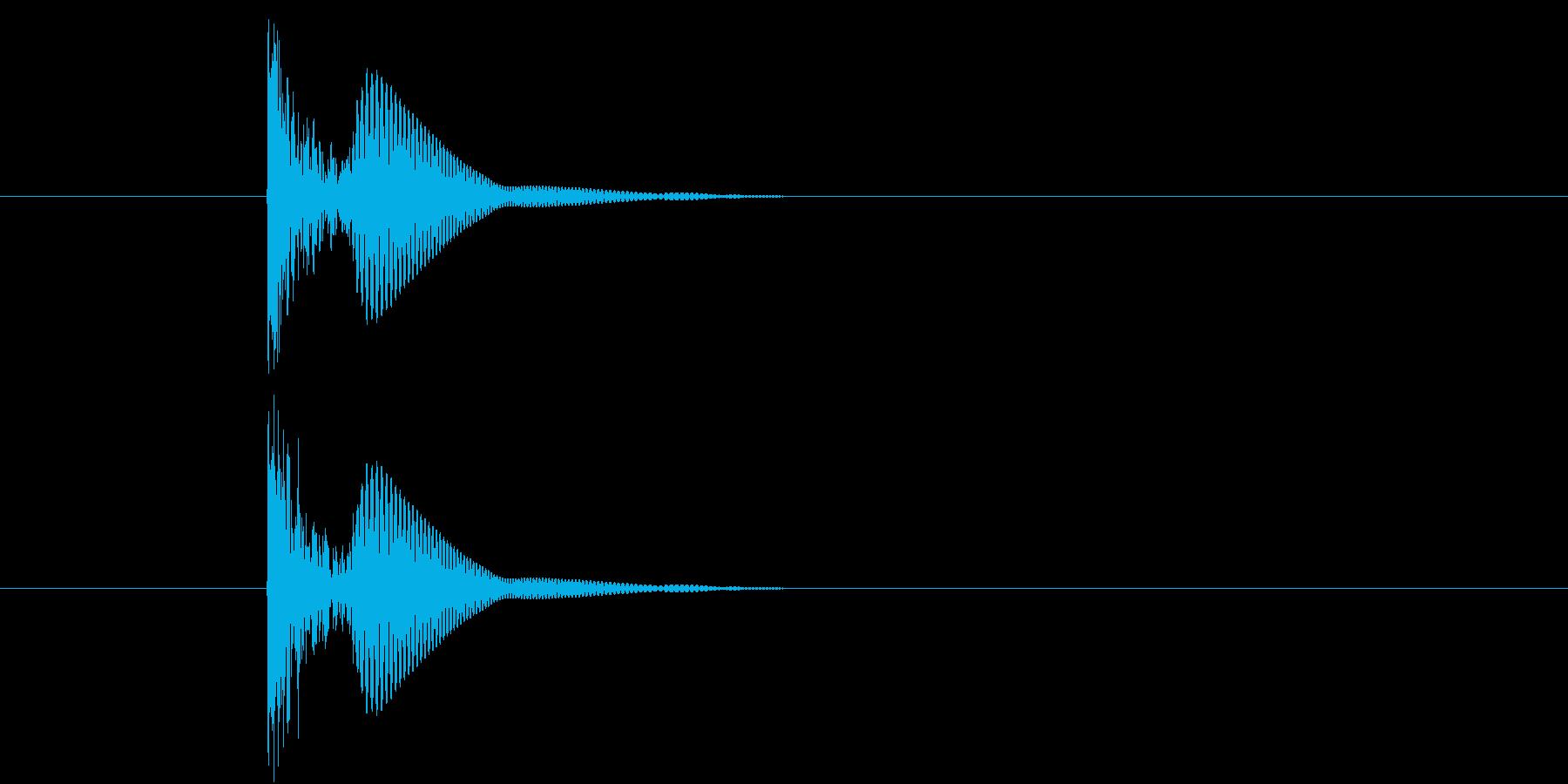 ブリュ(何かを漏らす効果音)の再生済みの波形