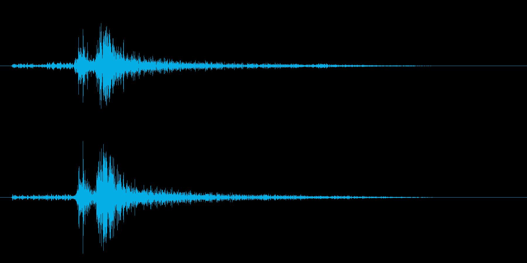 タン(的を射抜くような音)の再生済みの波形