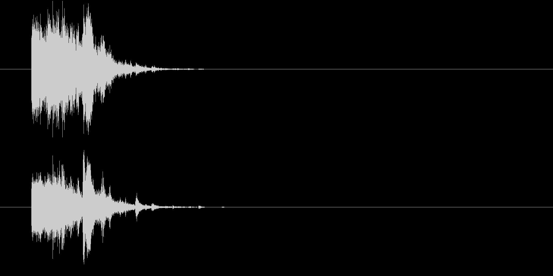 割れる、砕ける時の効果音(ガシャン)の未再生の波形