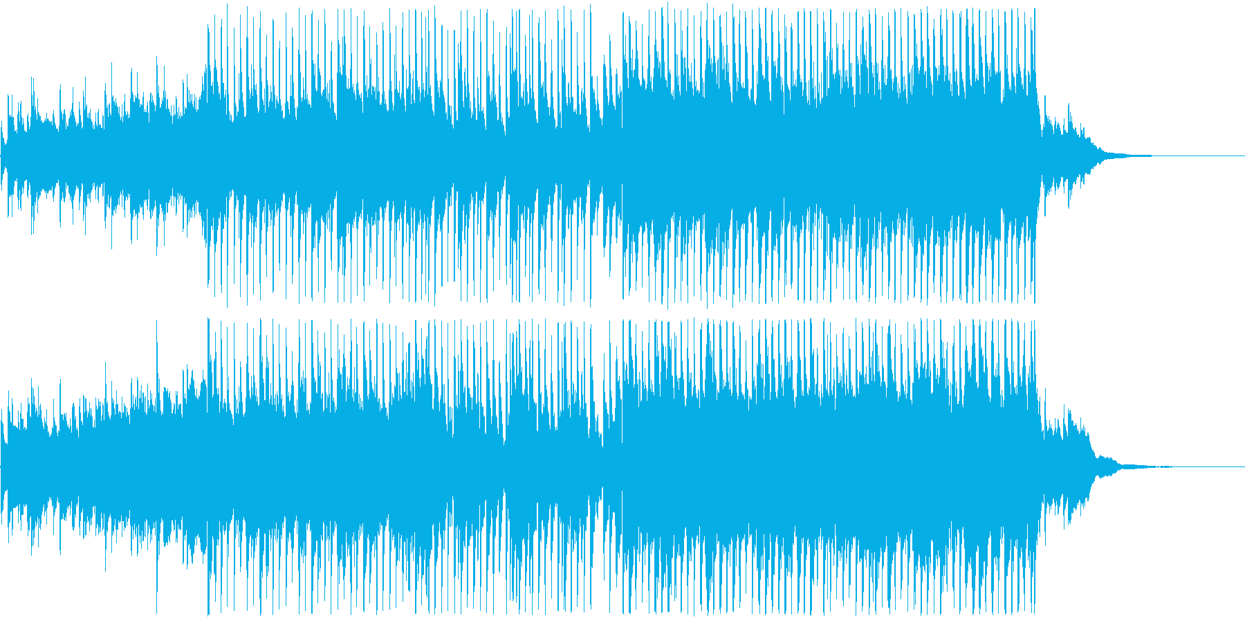 【1分版】透明感のある切ないアコースティの再生済みの波形