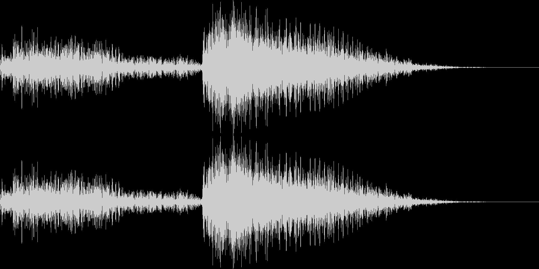 シーン転換 結果発表 音の未再生の波形