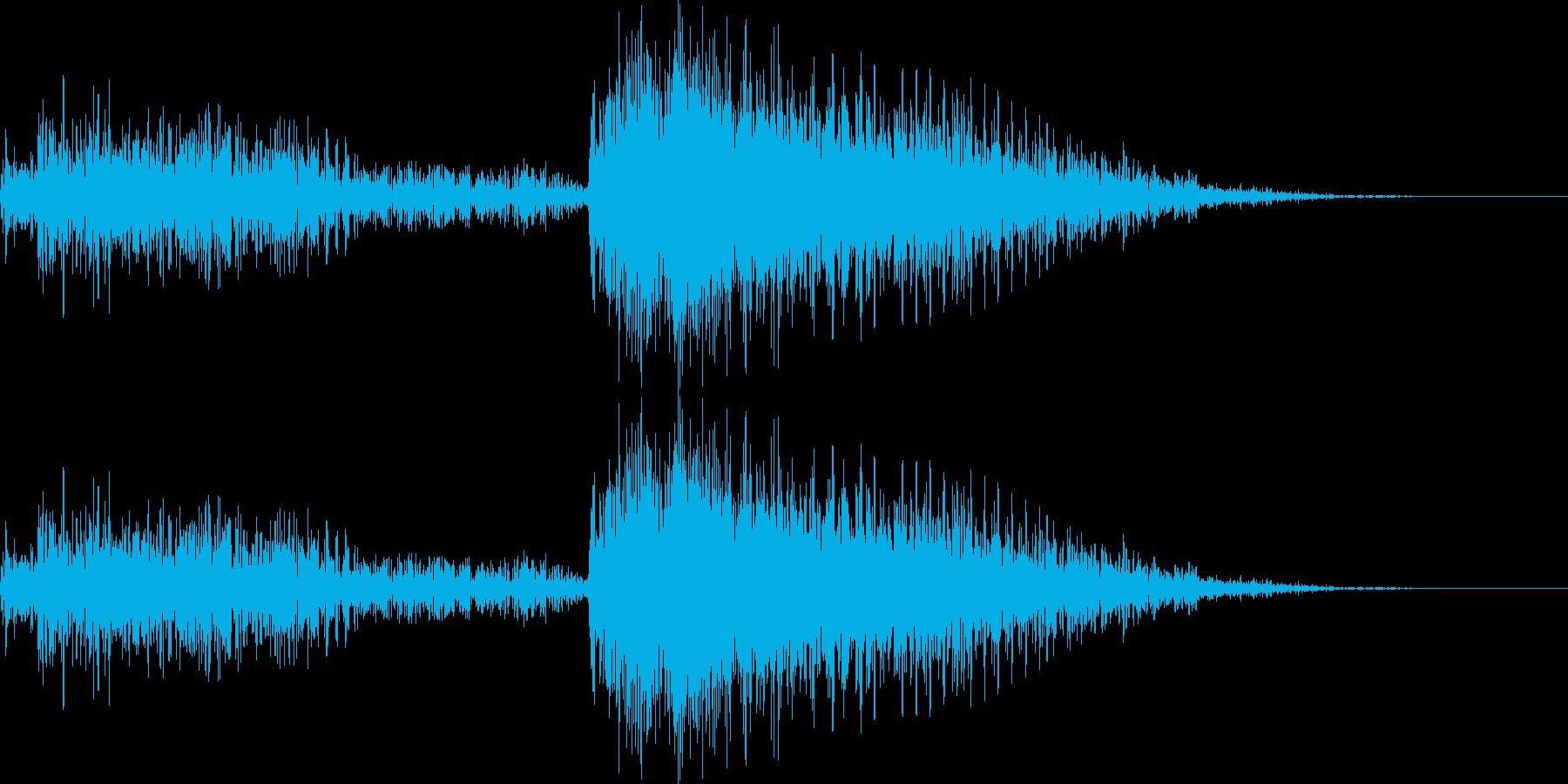 シーン転換 結果発表 音の再生済みの波形