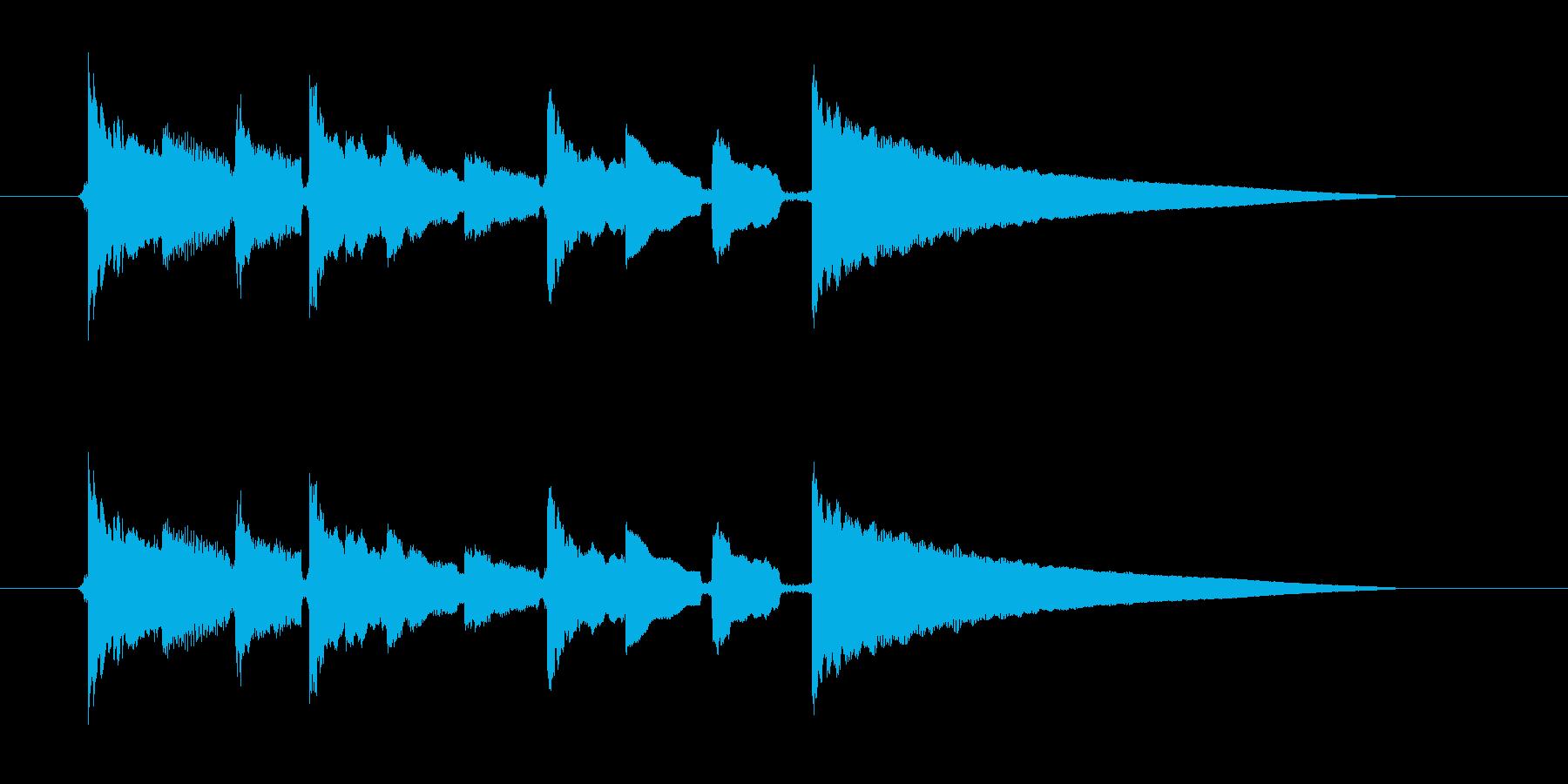 ゆっくりしたギター弦を弾くの音の再生済みの波形