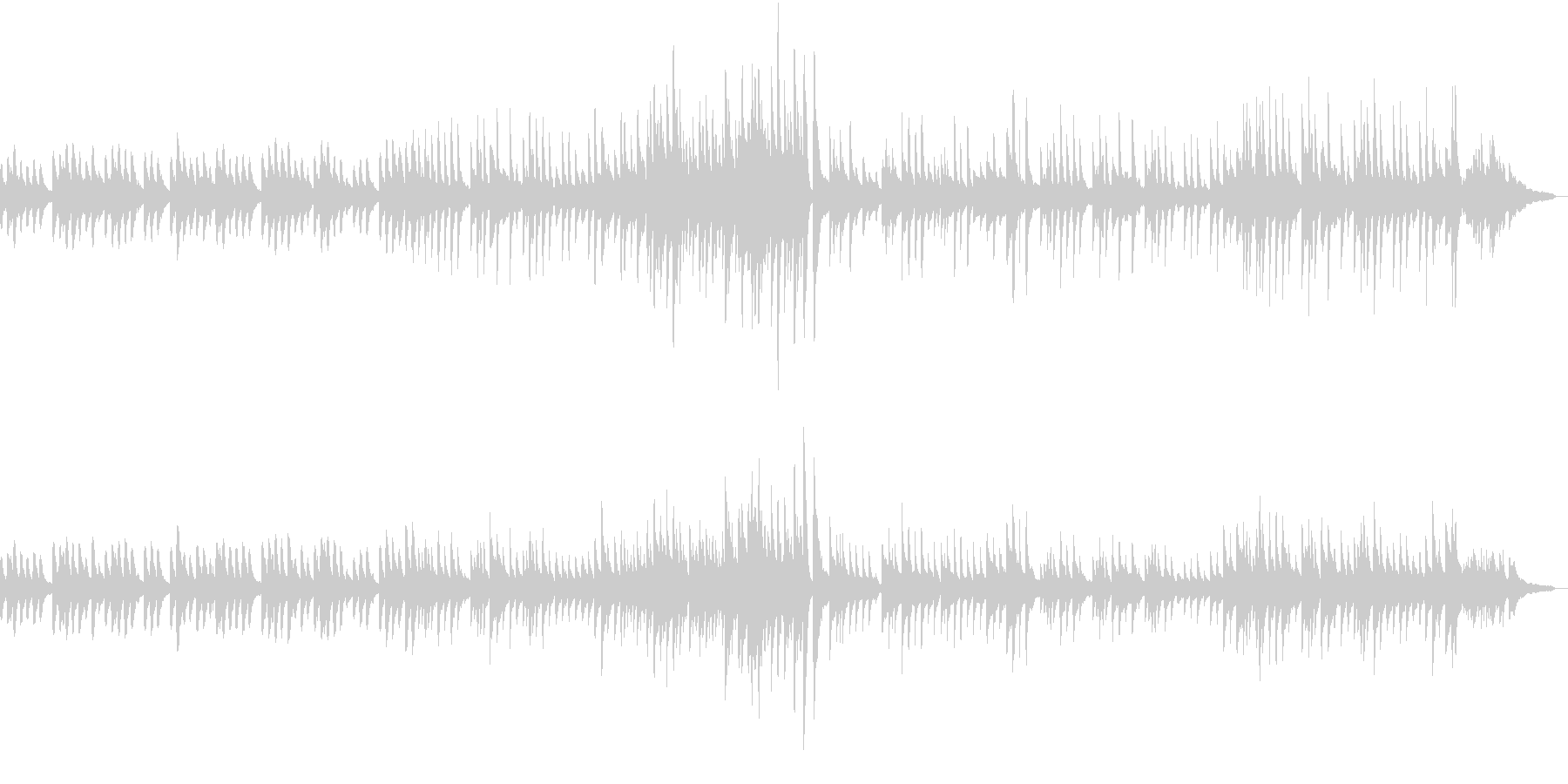 ヒーリングピアノバラードの未再生の波形