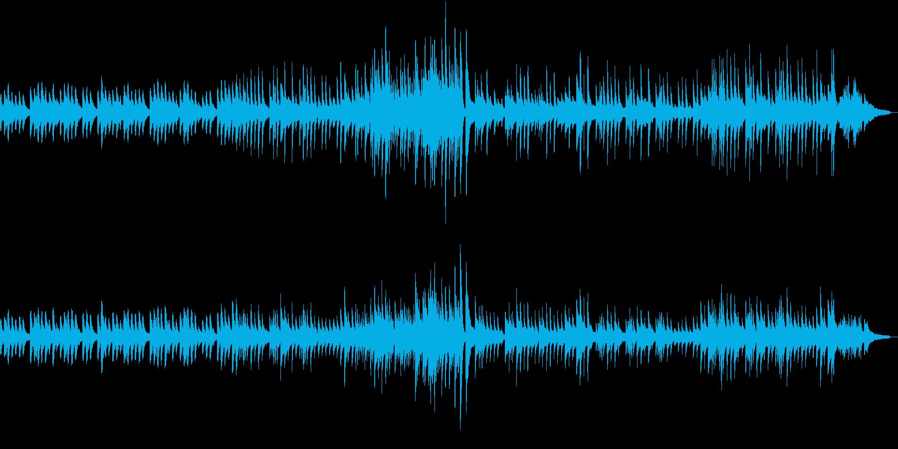 ヒーリングピアノバラードの再生済みの波形