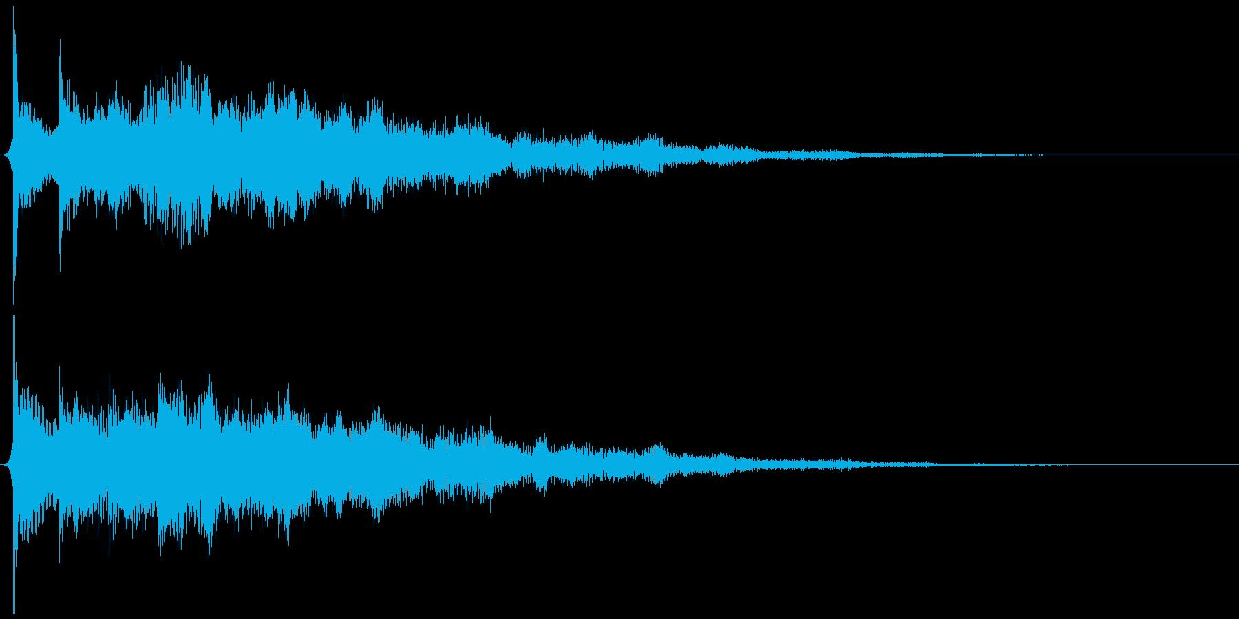 サウンドロゴ想定不安なエレキギターの再生済みの波形