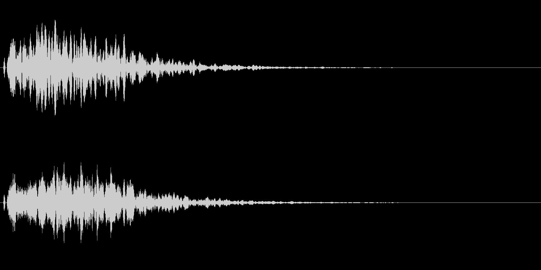 フワッとした決定音。シンセ系の未再生の波形