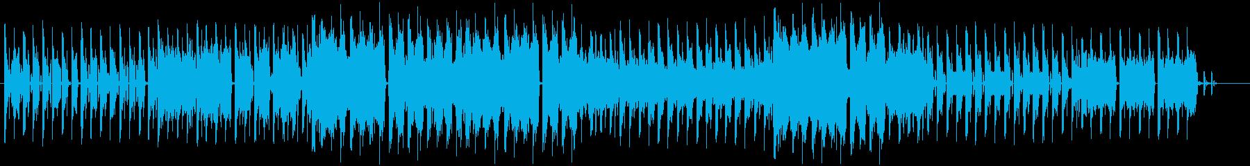 ポップで楽し気なテクノインストの再生済みの波形