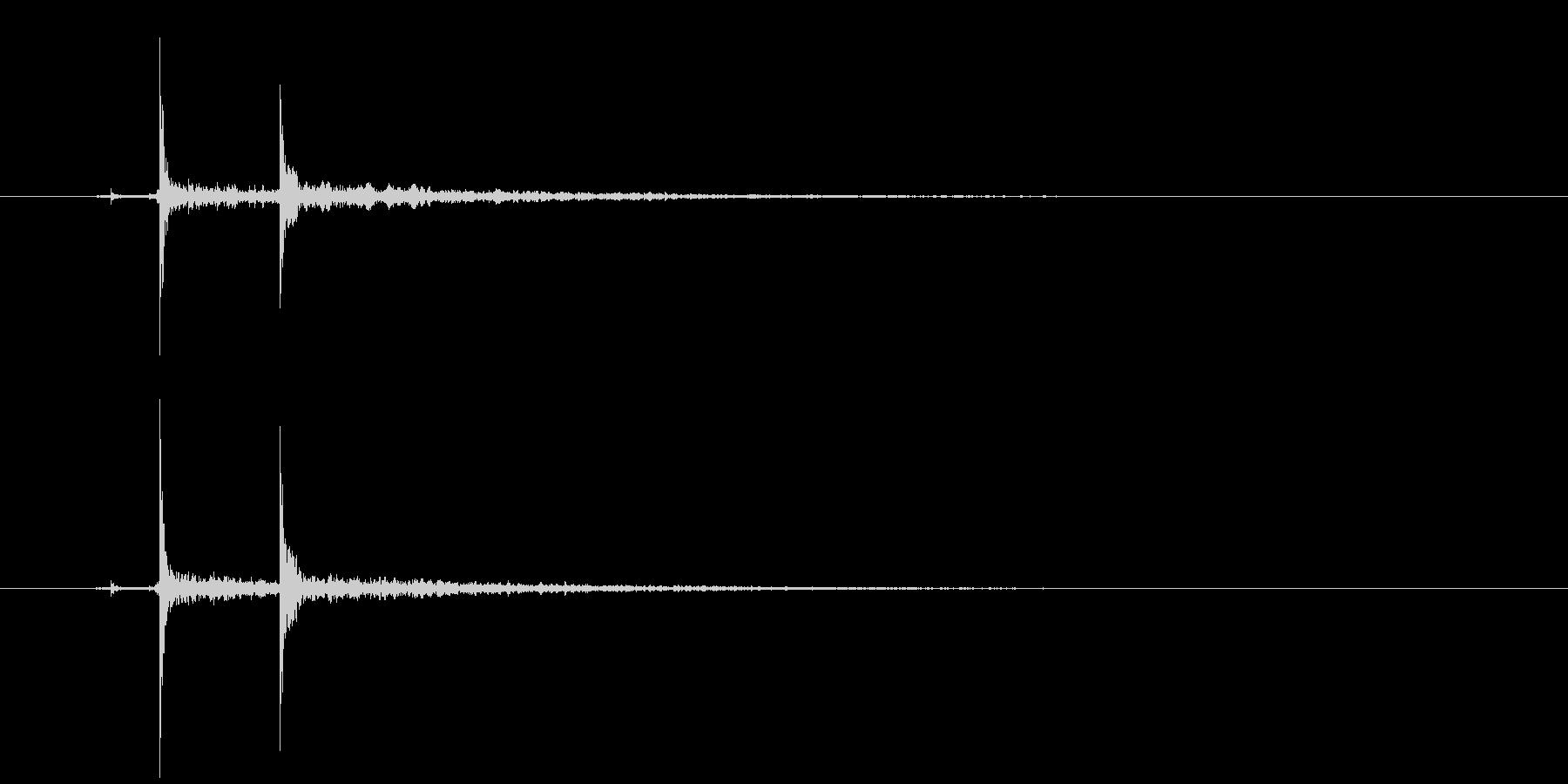 ピチョン(水滴、エフェクト有り)の未再生の波形