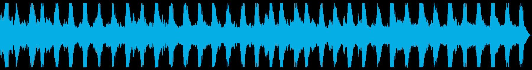 ダークアンビエント ホラーノイズBGMの再生済みの波形