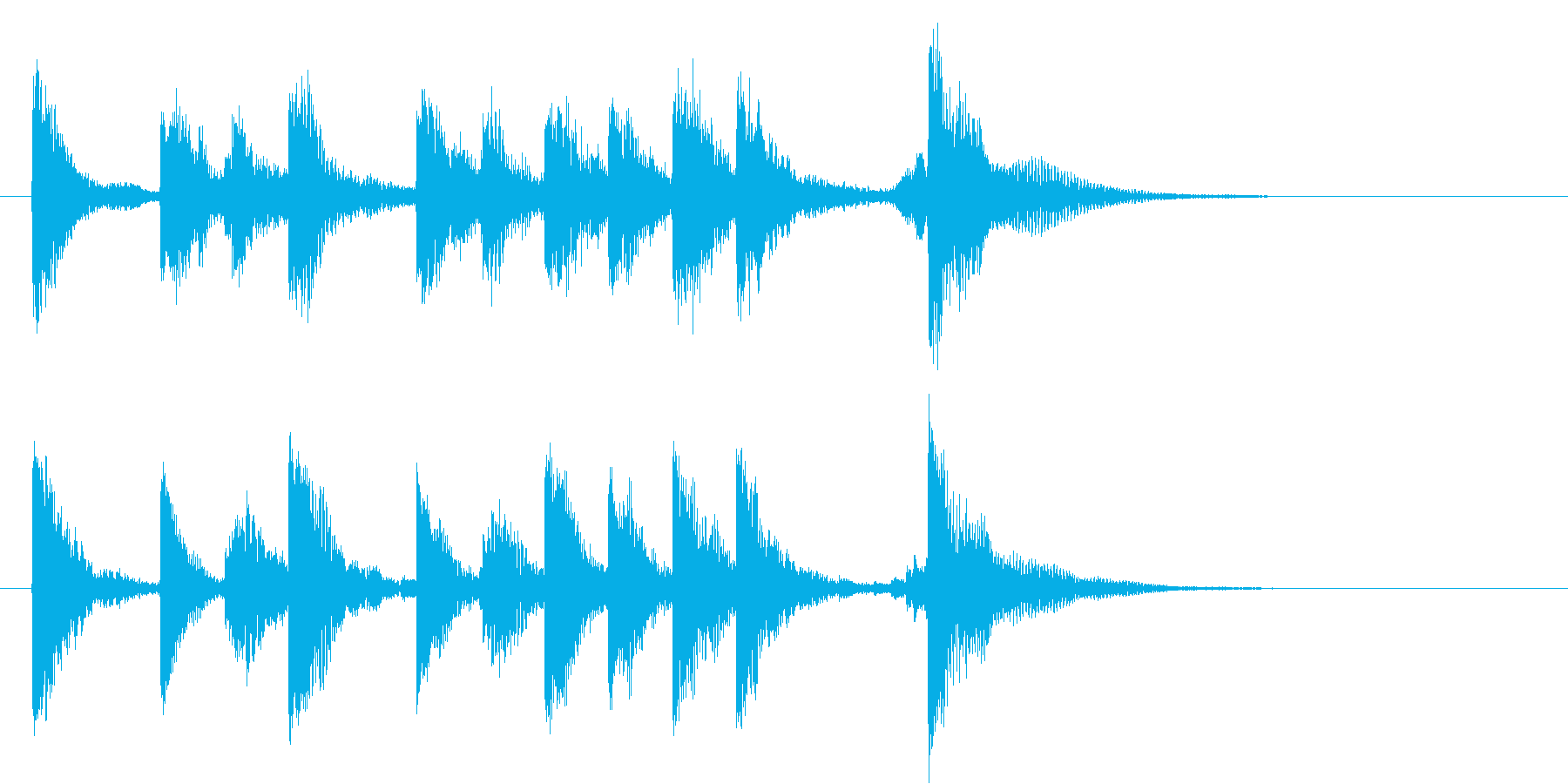 かわいらいい軽いオーケストラのロゴ♪の再生済みの波形