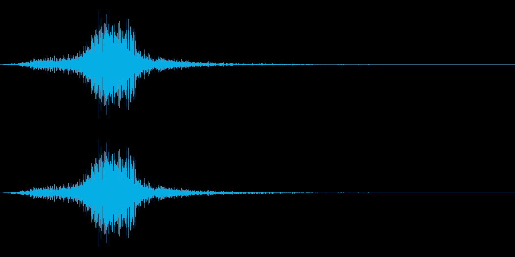 弓矢を放った時の効果音04の再生済みの波形