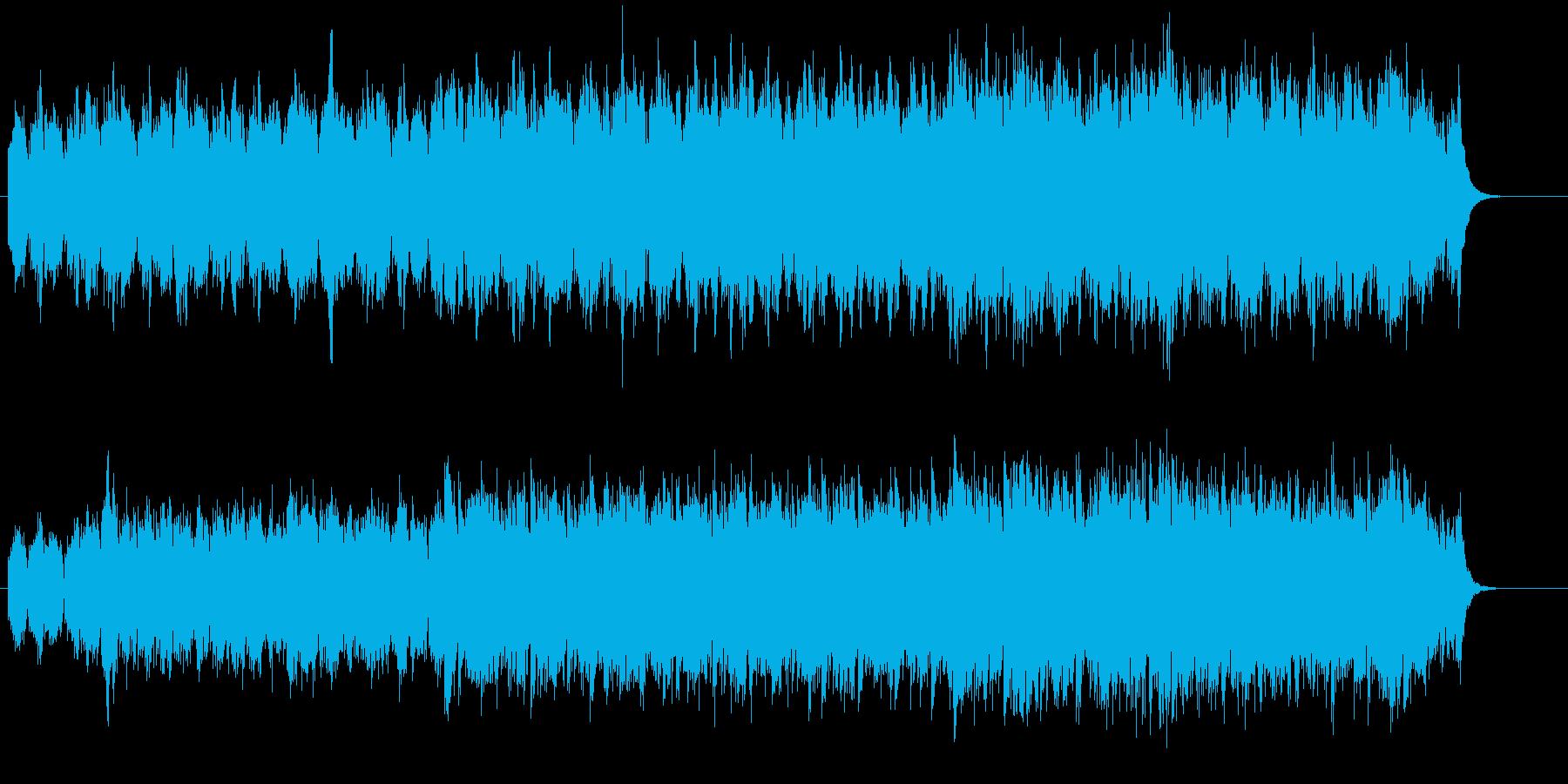 メロディーを排除した正攻法な環境音楽の再生済みの波形
