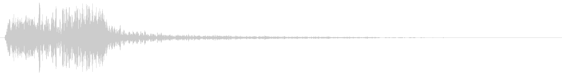 ズバッ(刀で人を切った音、時代劇)の未再生の波形