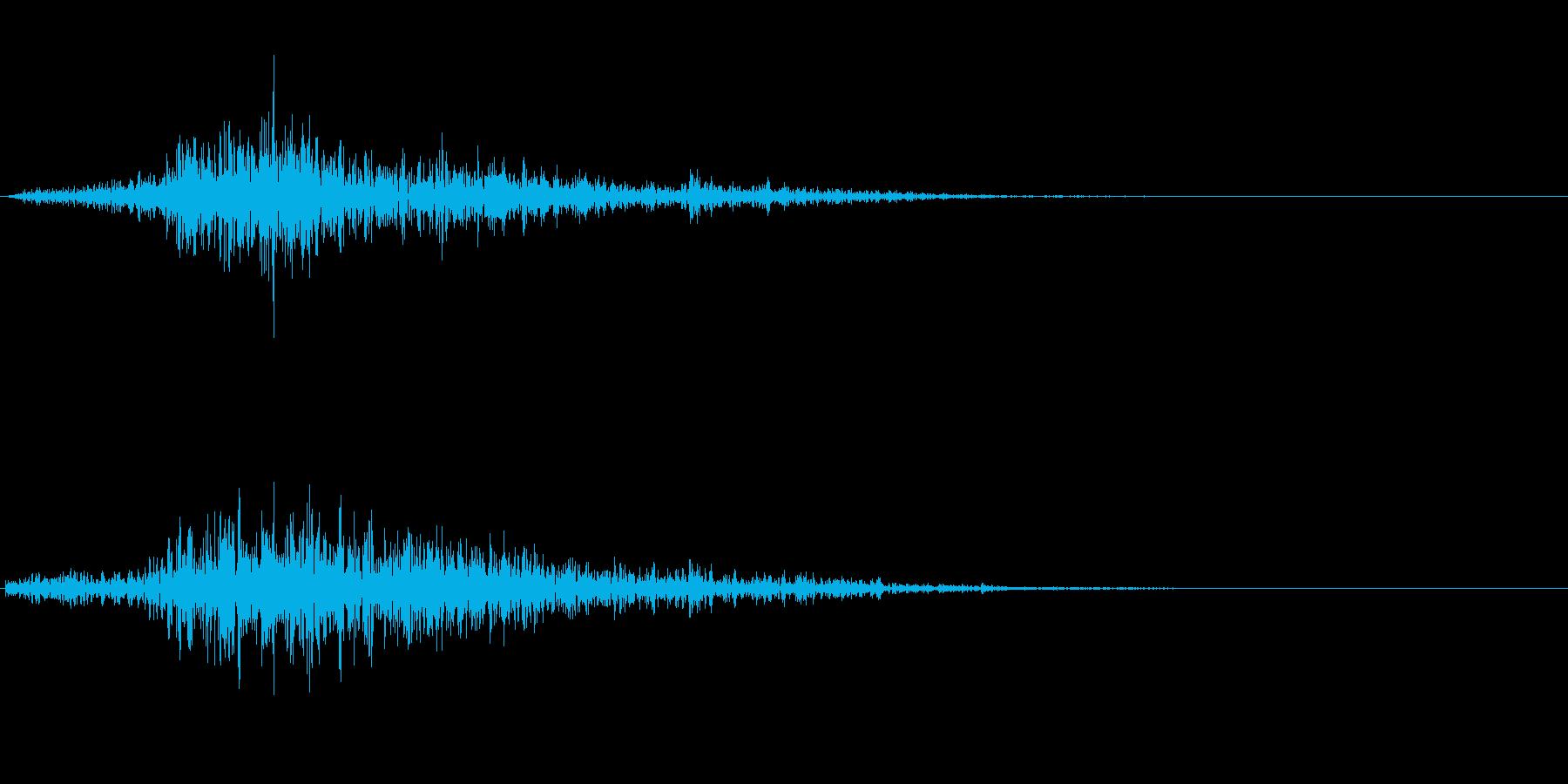 ヒュッ(風切音)の再生済みの波形