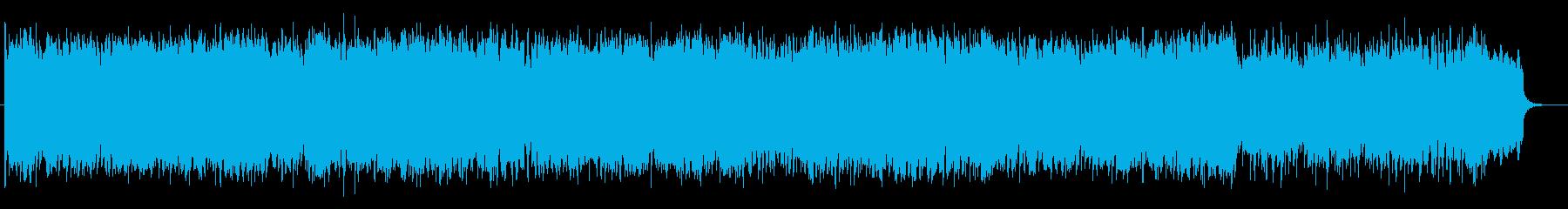 ゆったりとした時の流れを感じるポップスの再生済みの波形