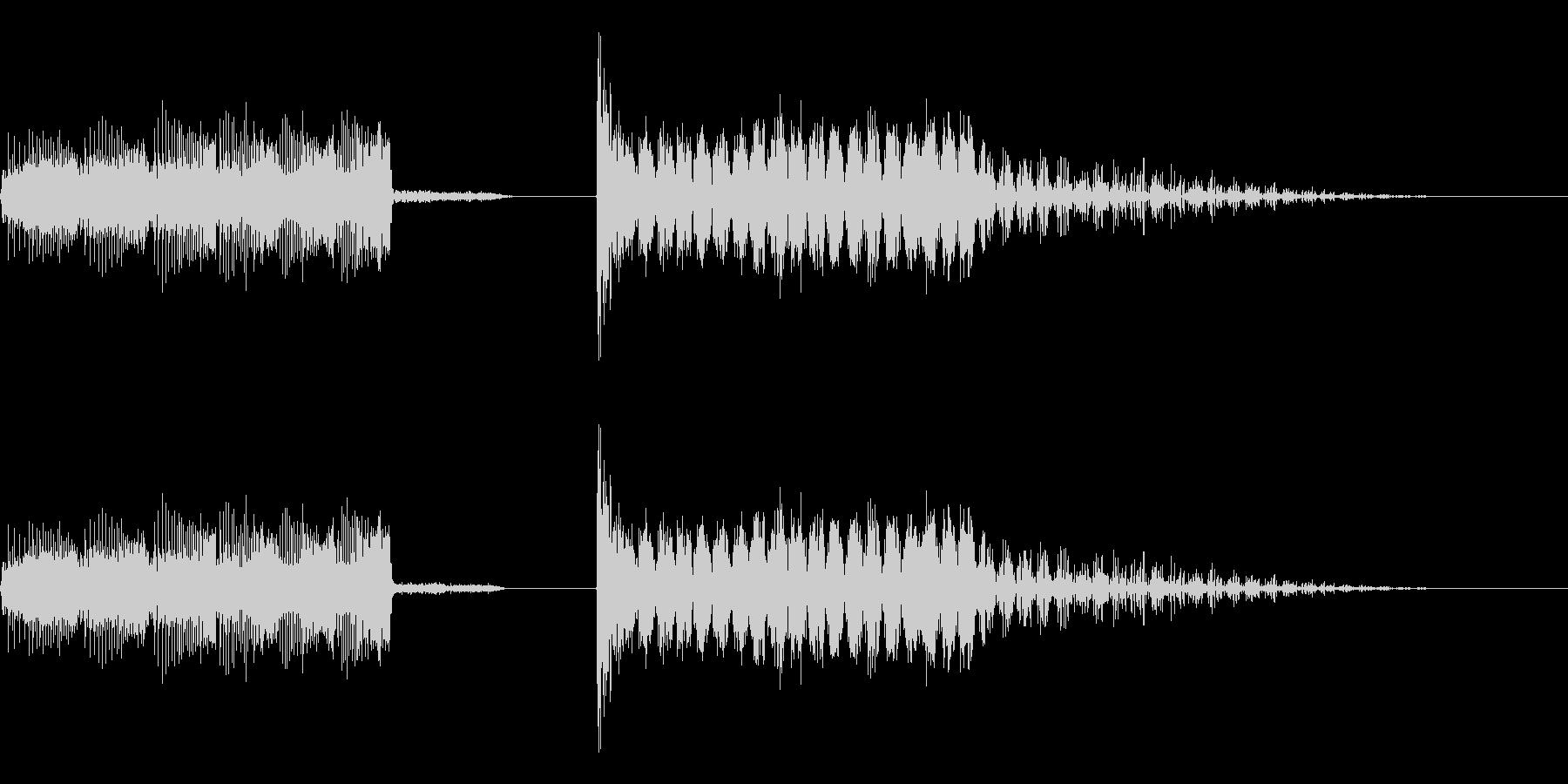 エネルギーチャージ & レーザービームの未再生の波形