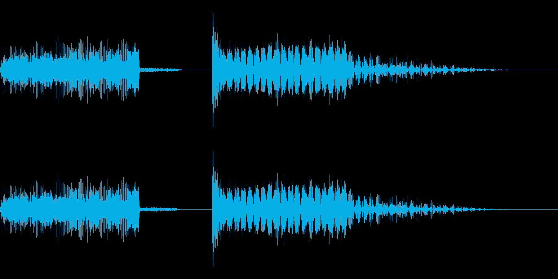 エネルギーチャージ & レーザービームの再生済みの波形