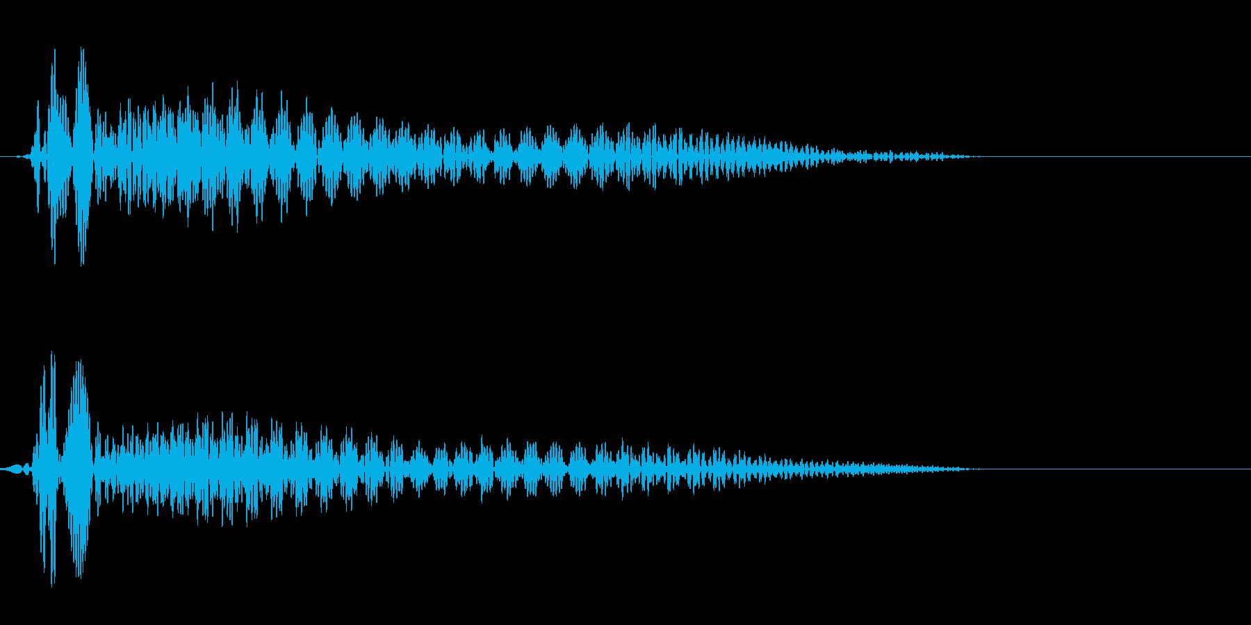 プウーン(シンプルで電子的な決定音)の再生済みの波形