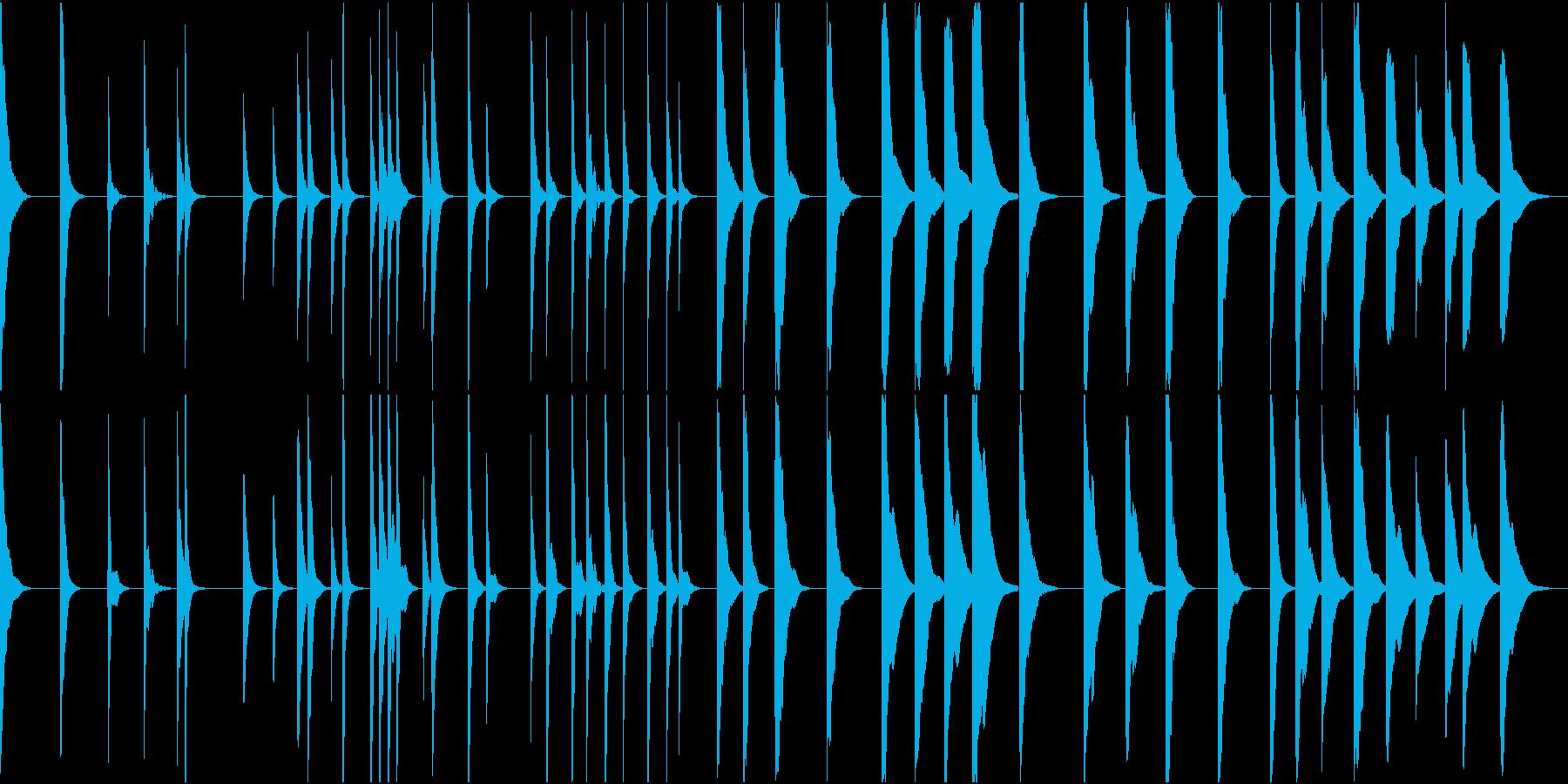 (和風)不吉な予言をするお婆さんが弾く琴の再生済みの波形