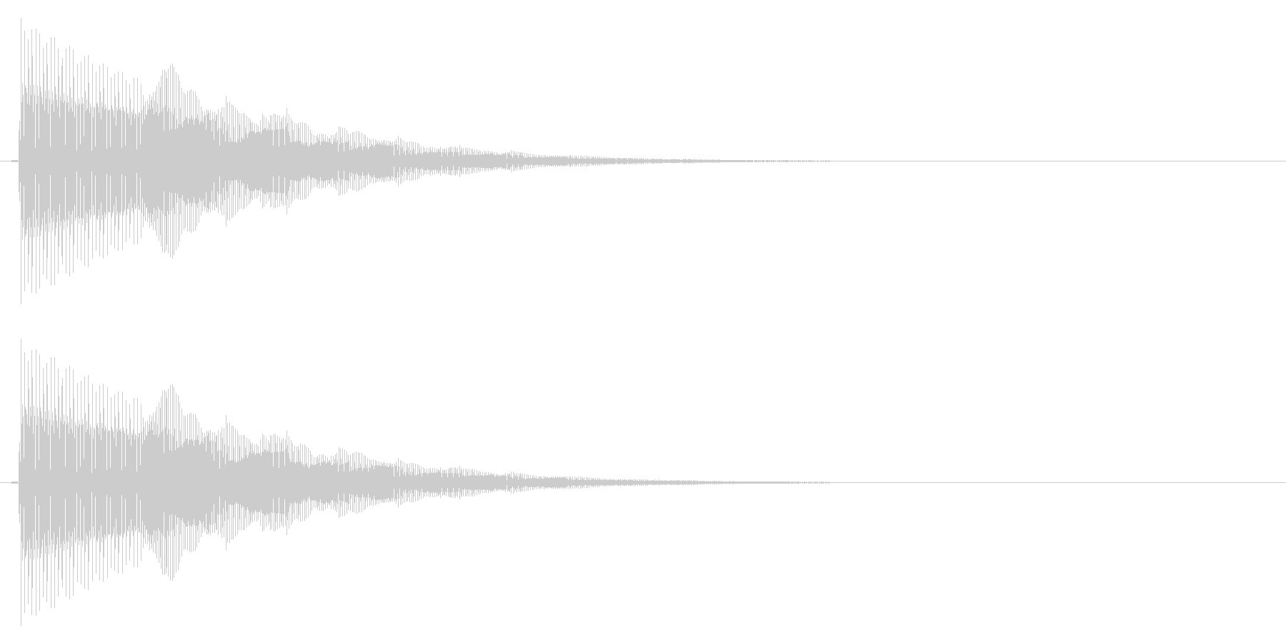ぴこん/矢印/現在地の未再生の波形