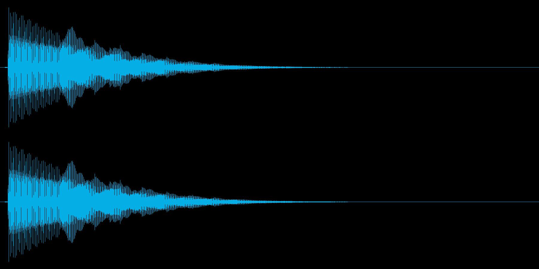ぴこん/矢印/現在地の再生済みの波形