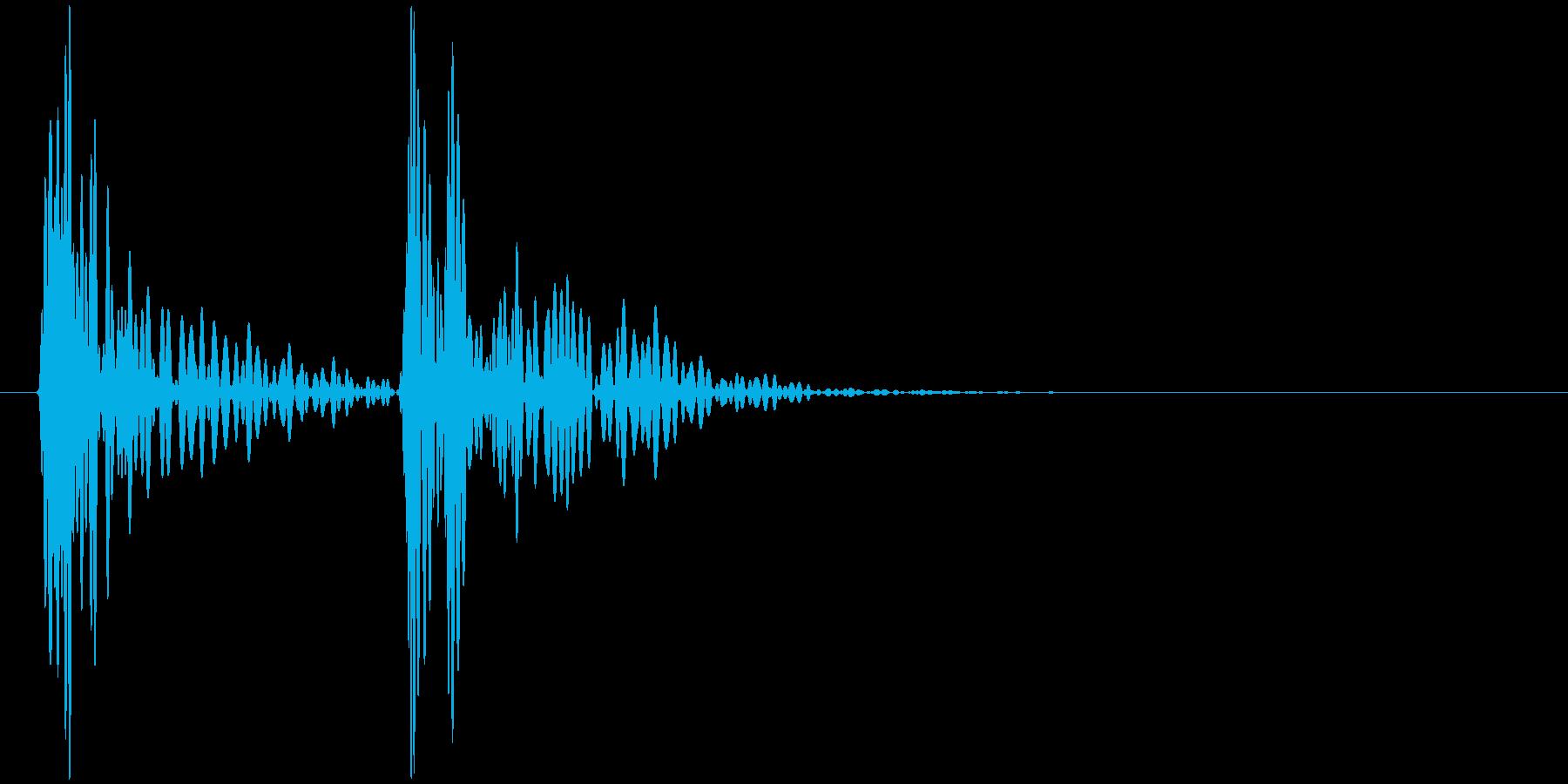 ドクンドクン(心臓の鼓動)の再生済みの波形