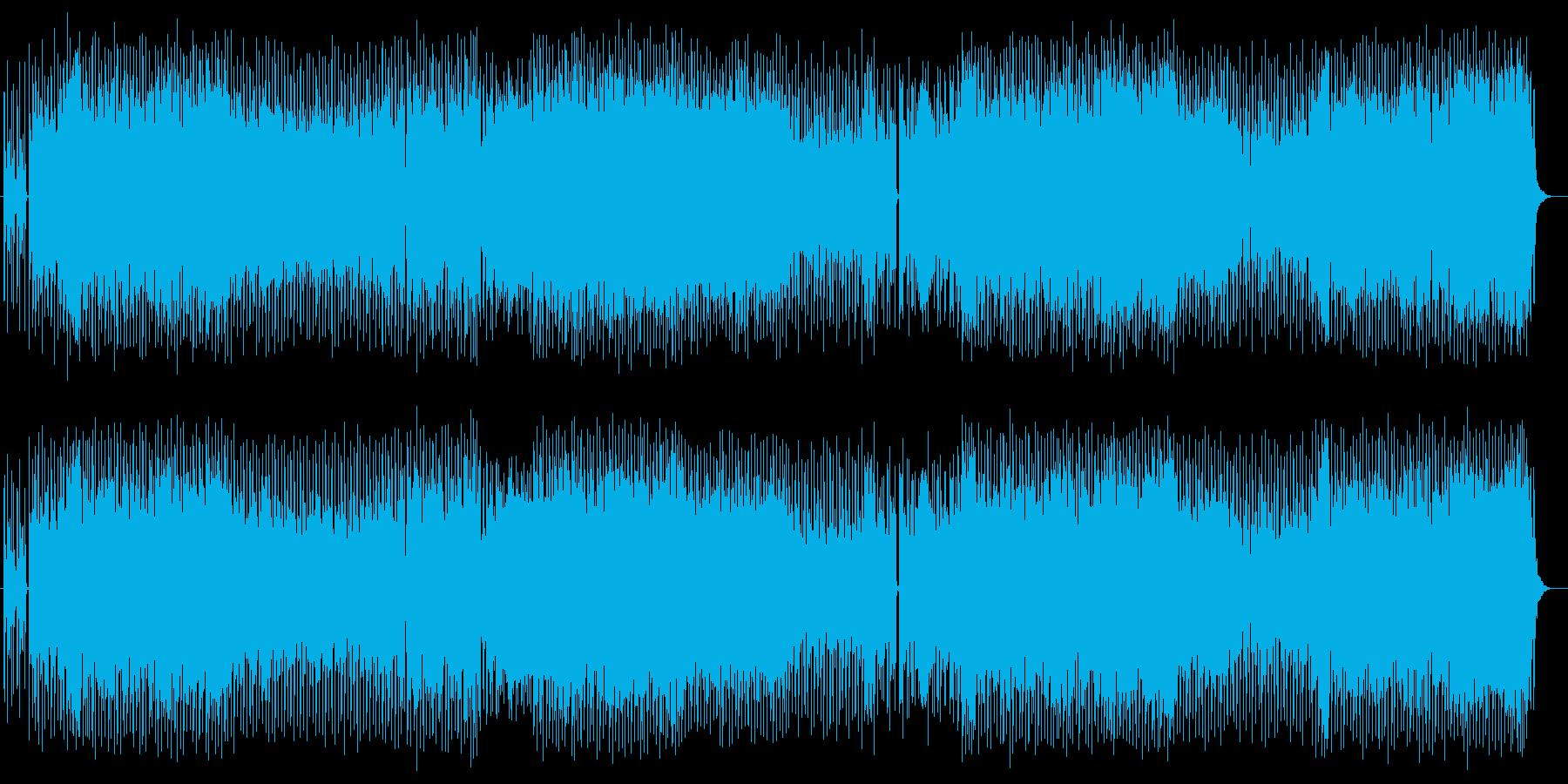 エッジ、浮遊感あるドラムンベースの曲の再生済みの波形