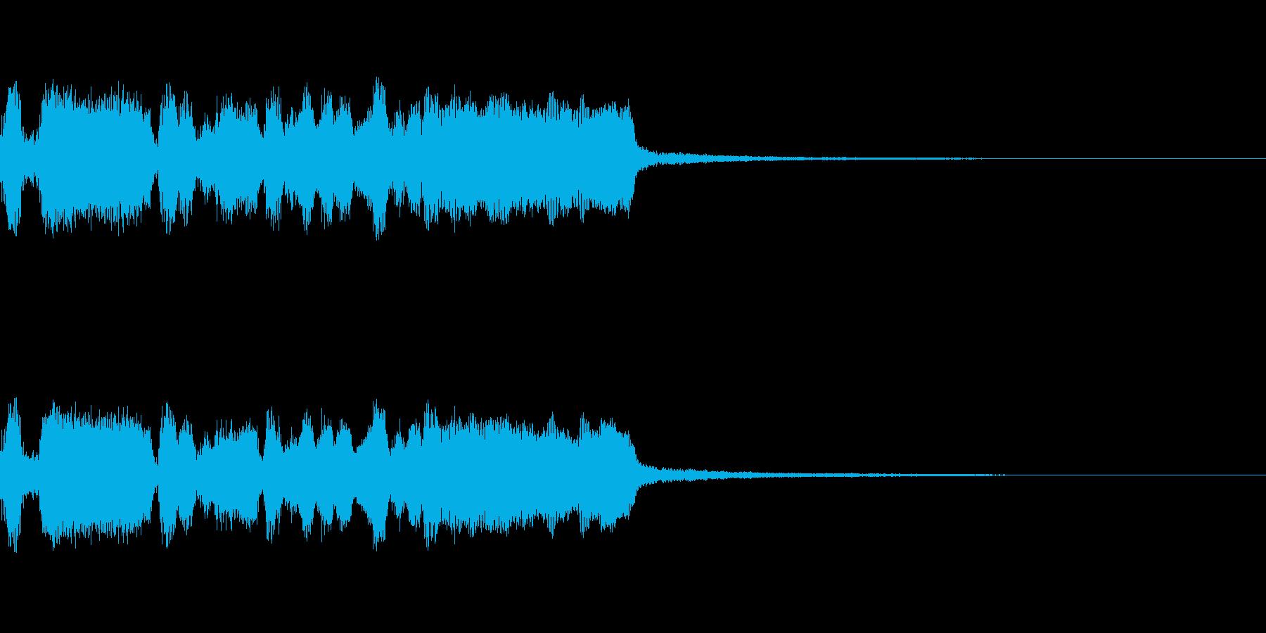 クエスト達成の再生済みの波形