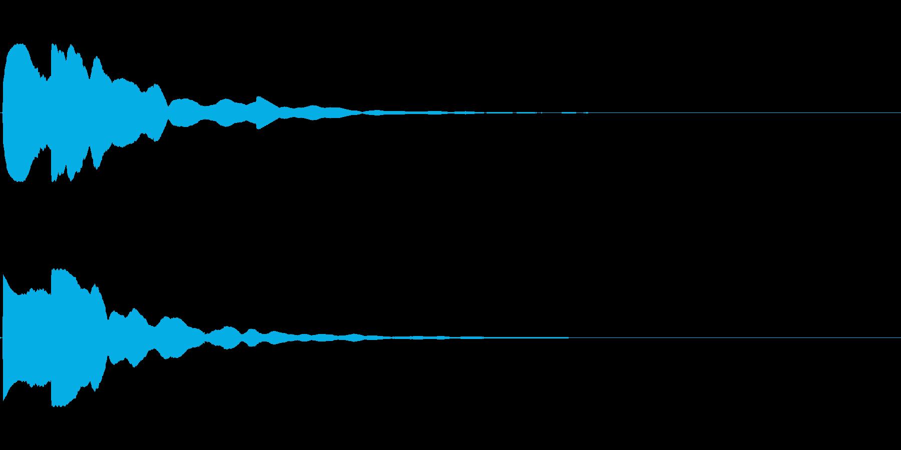 【システム音セット03-クリック】の再生済みの波形