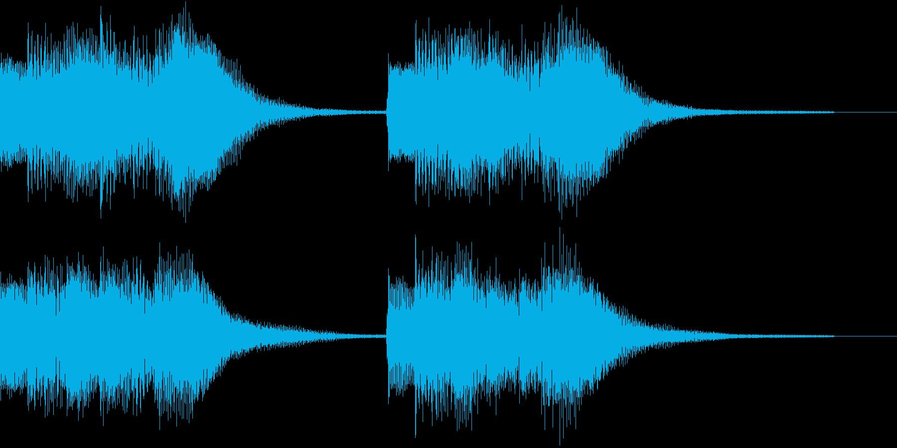 ベル アラーム お知らせ ループ 案内4の再生済みの波形