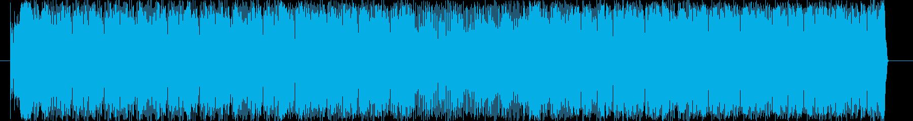 激しい 慌ただしい スピード  緊張の再生済みの波形