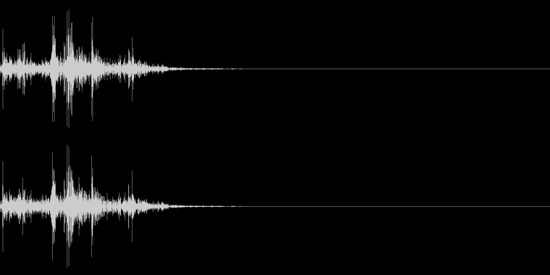 ガラガラ_崩れる音_01の未再生の波形