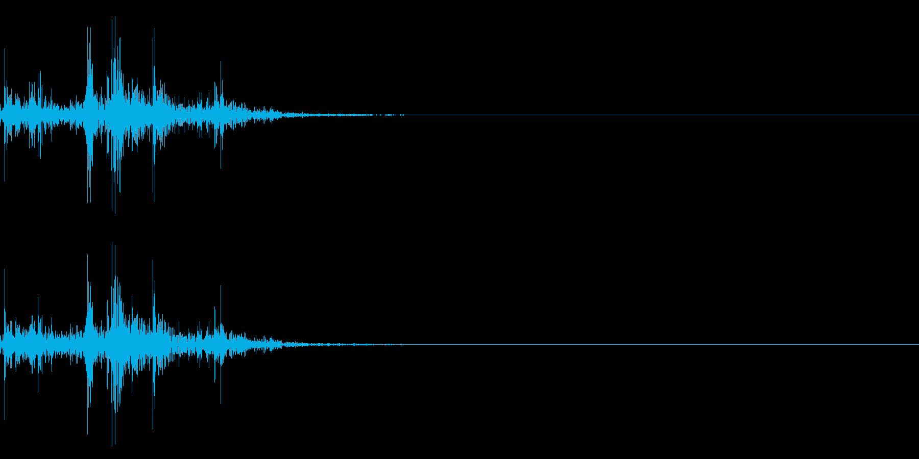 ガラガラ_崩れる音_01の再生済みの波形
