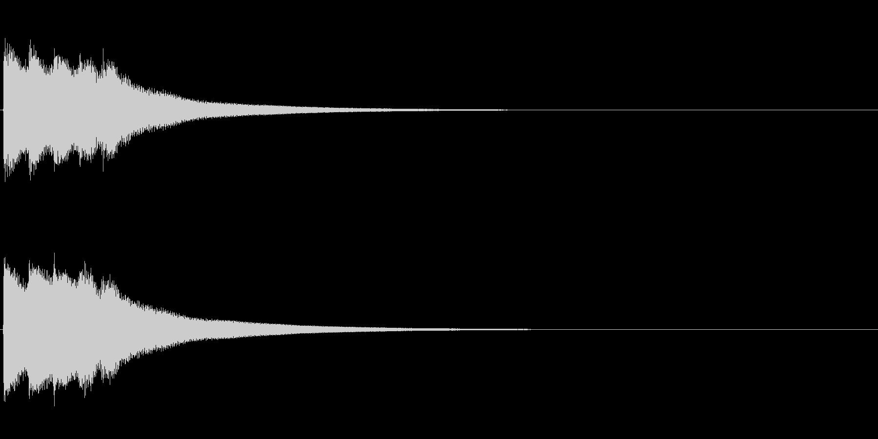 クイズ系01 タイムアップ カンカンカンの未再生の波形