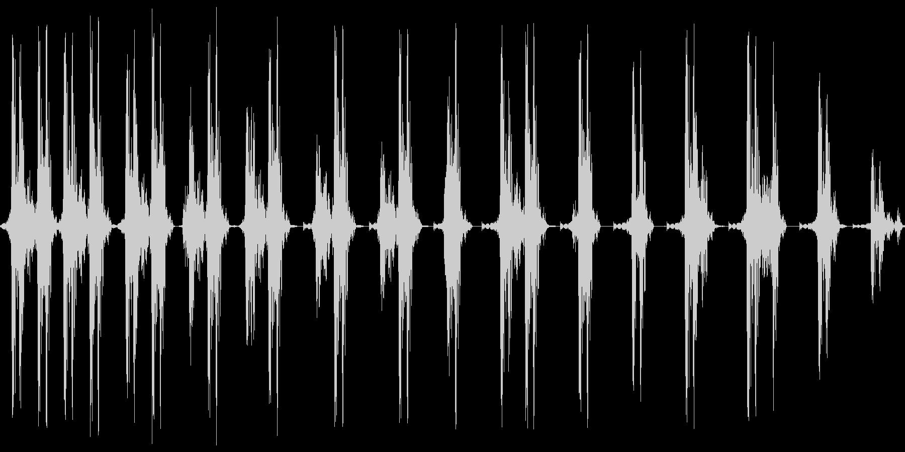 ギリギリ。締め上げる音の未再生の波形