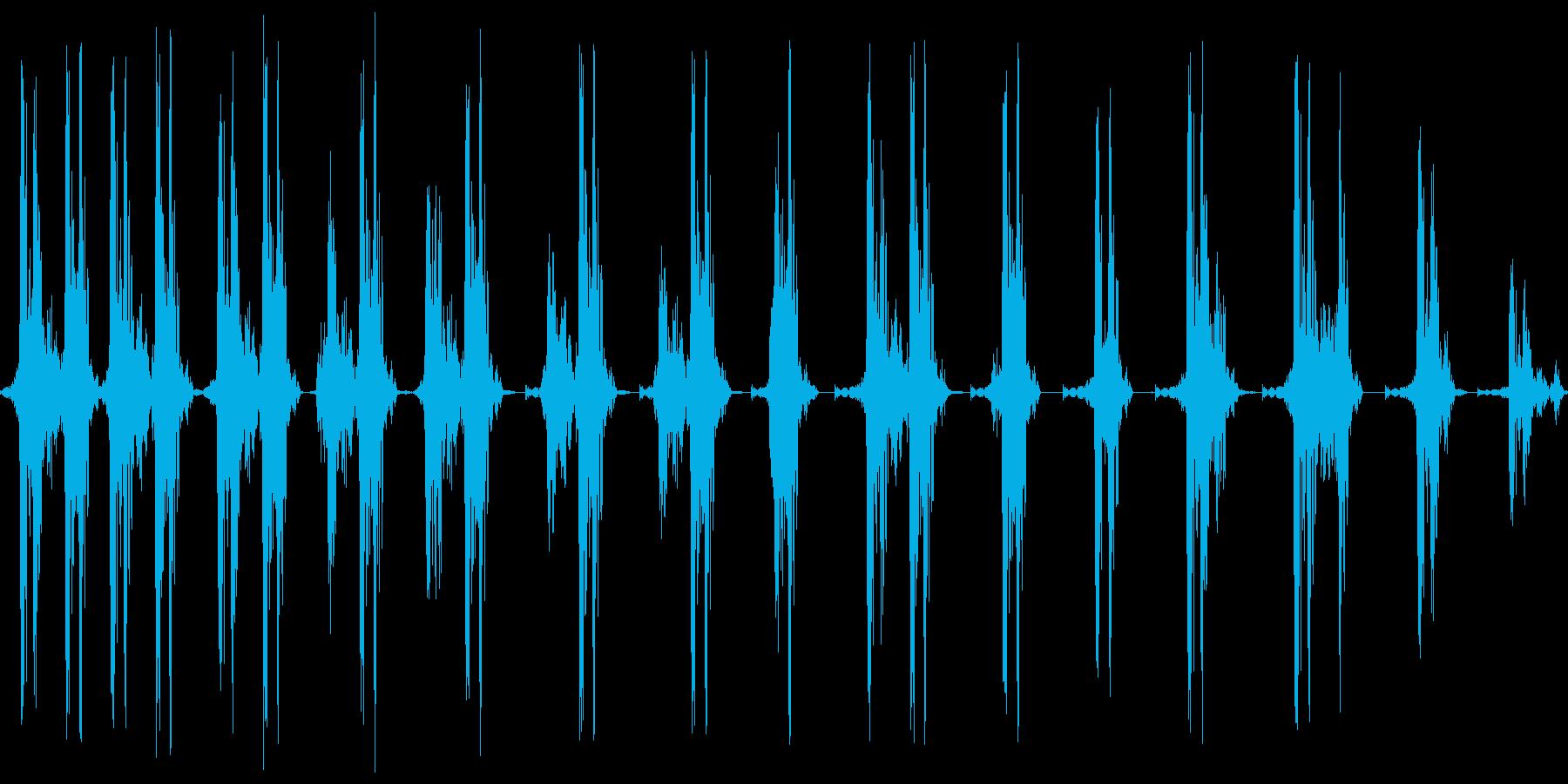 ギリギリ。締め上げる音の再生済みの波形