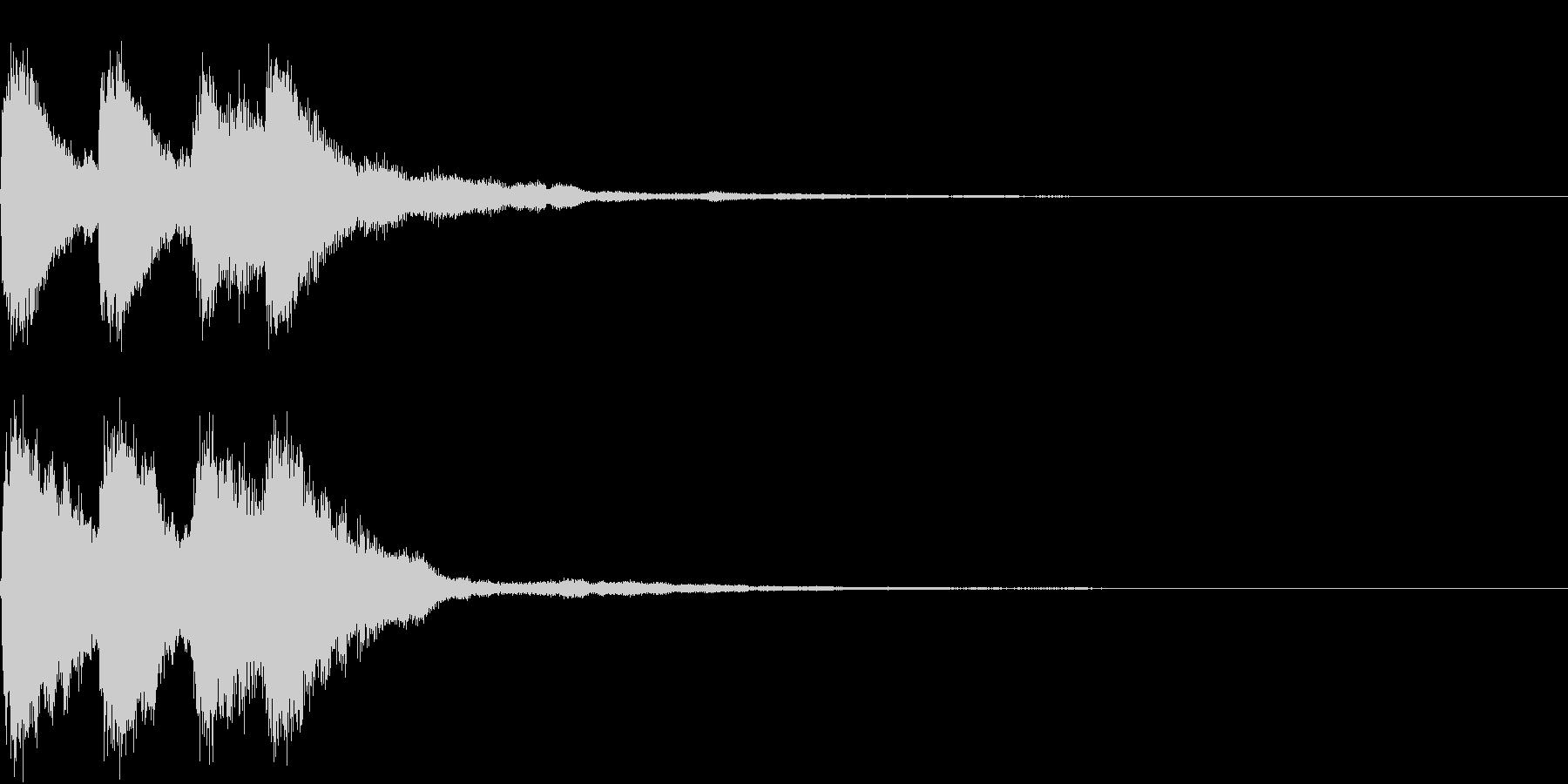 キラキラ 発見 見つける 発明 開始の未再生の波形