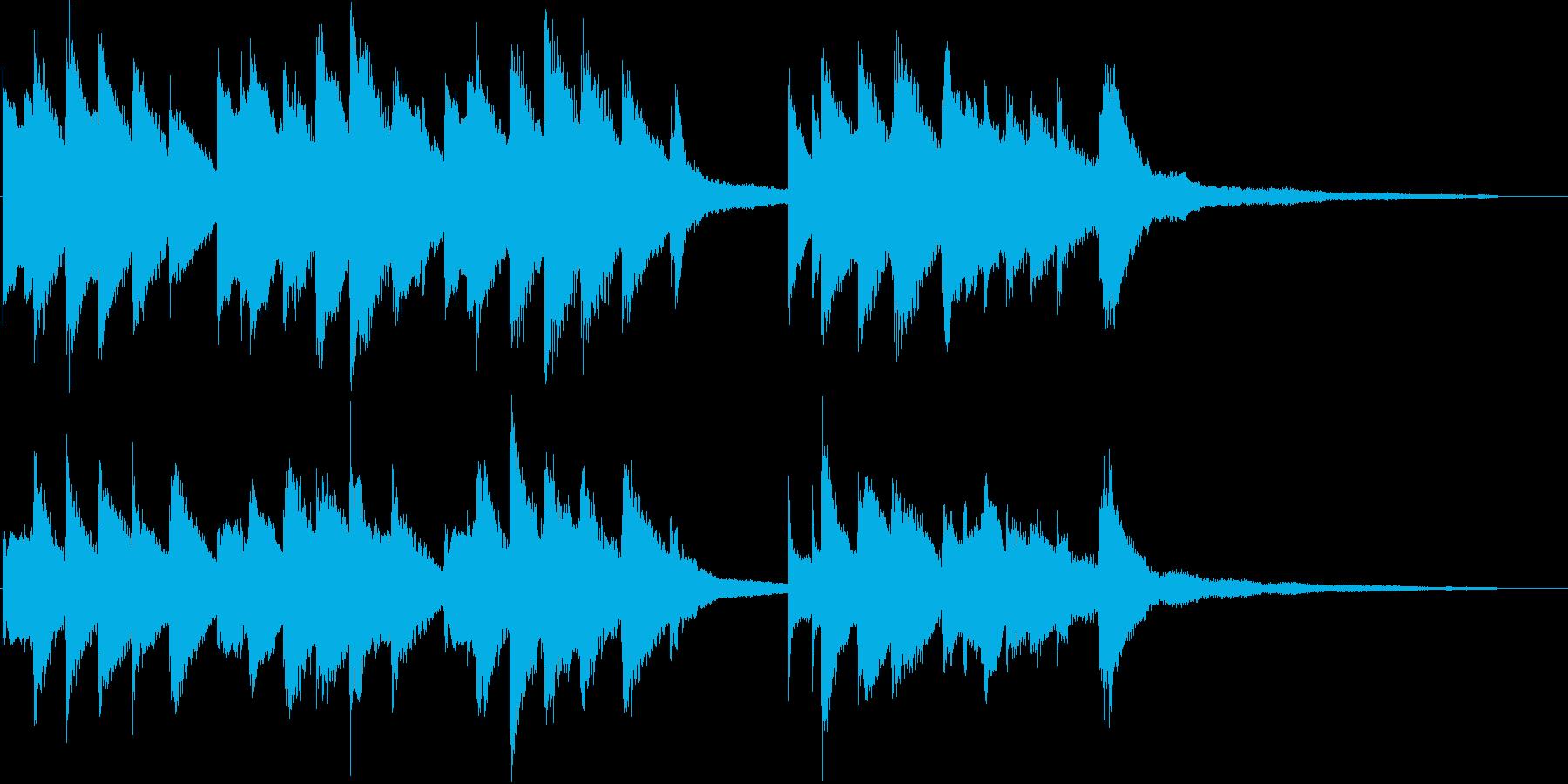 ハッピーバースデー(ジャズピアノ)の再生済みの波形
