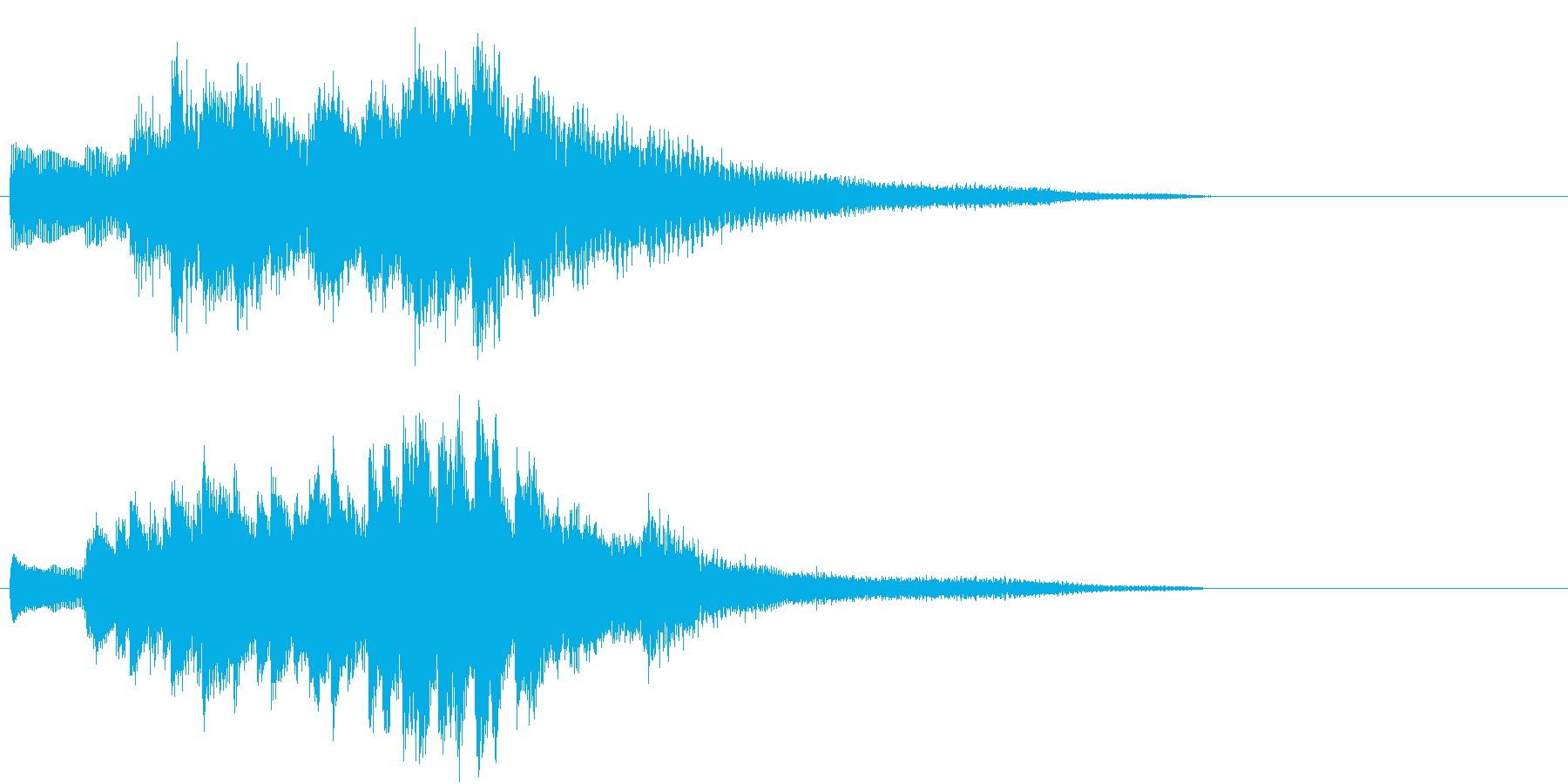 生演奏:和風&ラグジュアリーなピアノの再生済みの波形