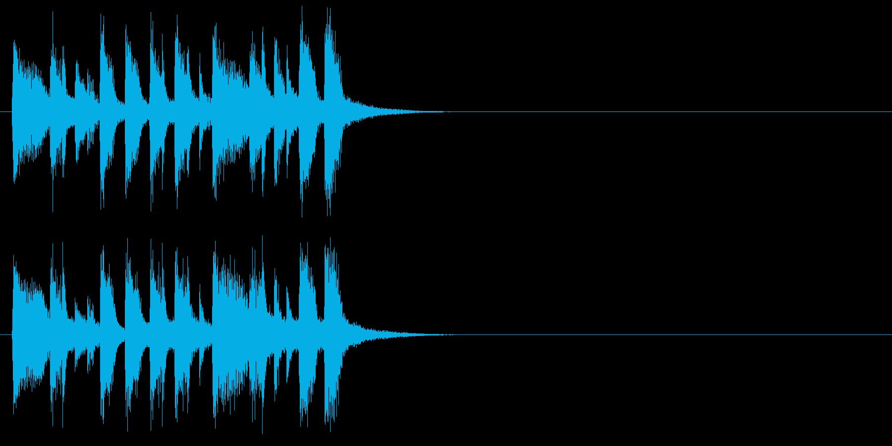 ジングル(クイズ回答中)の再生済みの波形