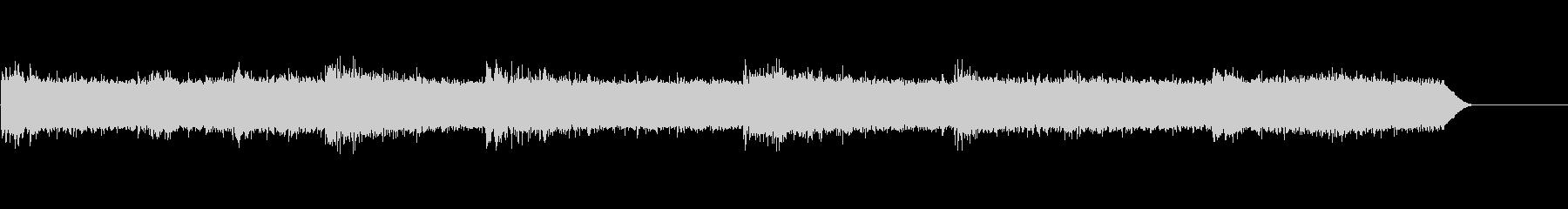 シンセと録音素材で制作した雨の音+雷の未再生の波形