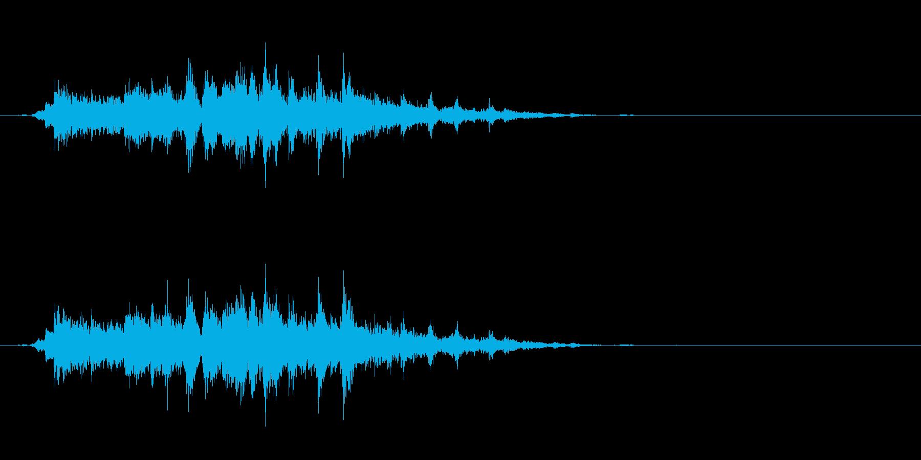 重めの鈴の音「えきろ」の単発音2の再生済みの波形