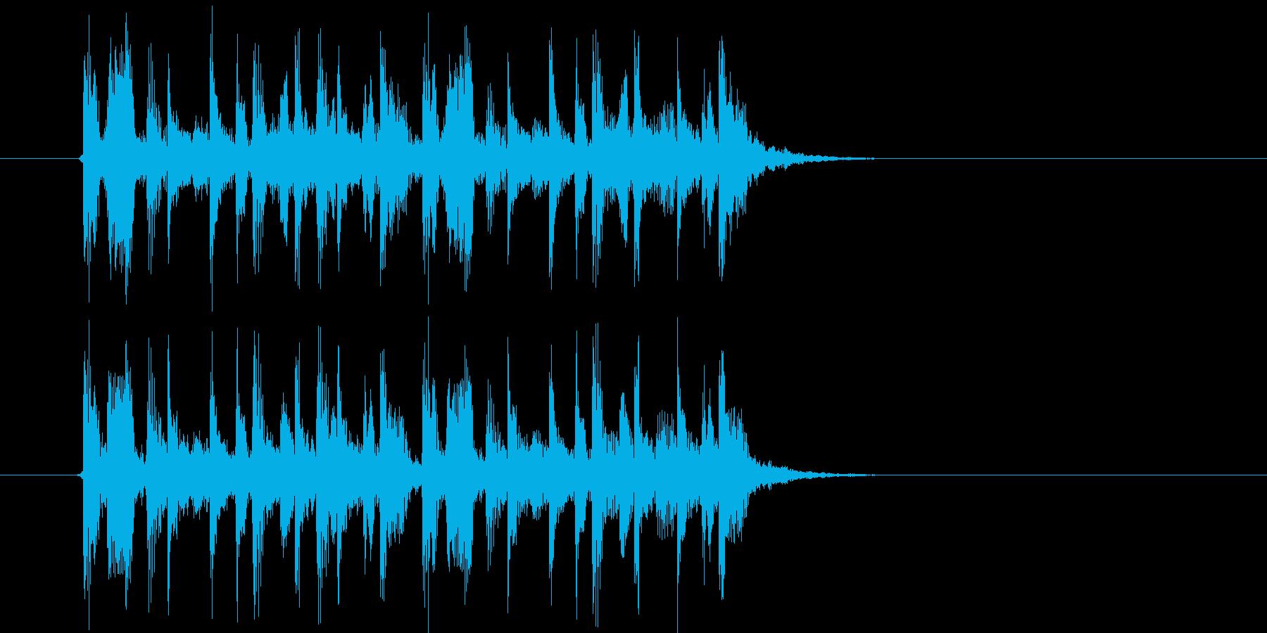 リズミカルでアップテンポなジングルの再生済みの波形