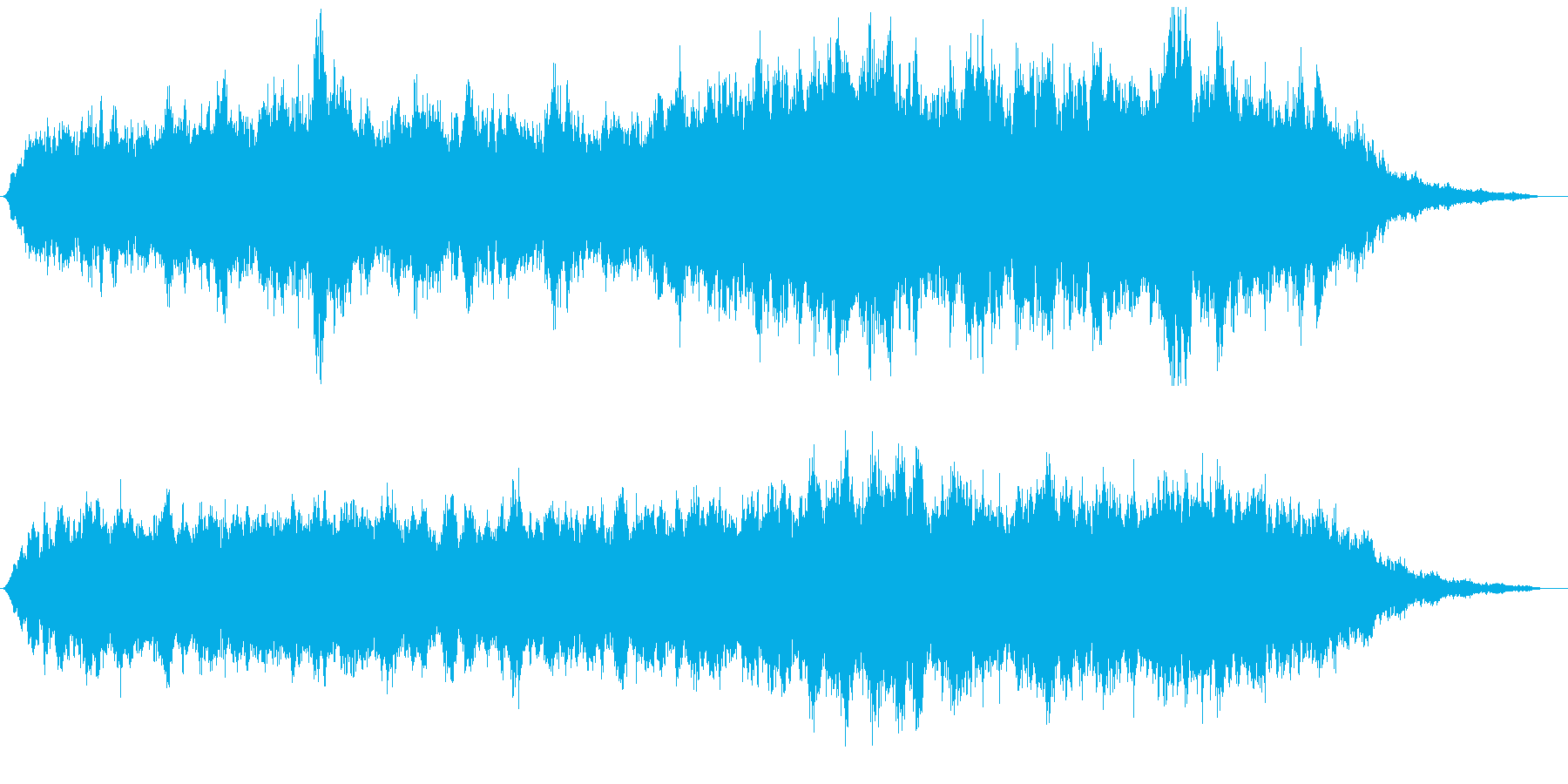 抽象的で深呼吸のような弦楽曲の再生済みの波形
