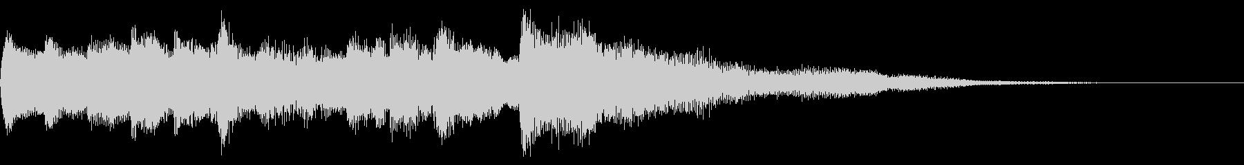 クリーントーンギターのアルペジオ 切替の未再生の波形