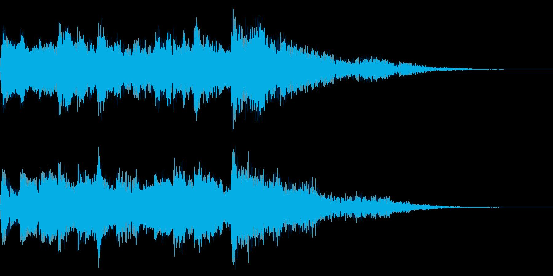 クリーントーンギターのアルペジオ 切替の再生済みの波形