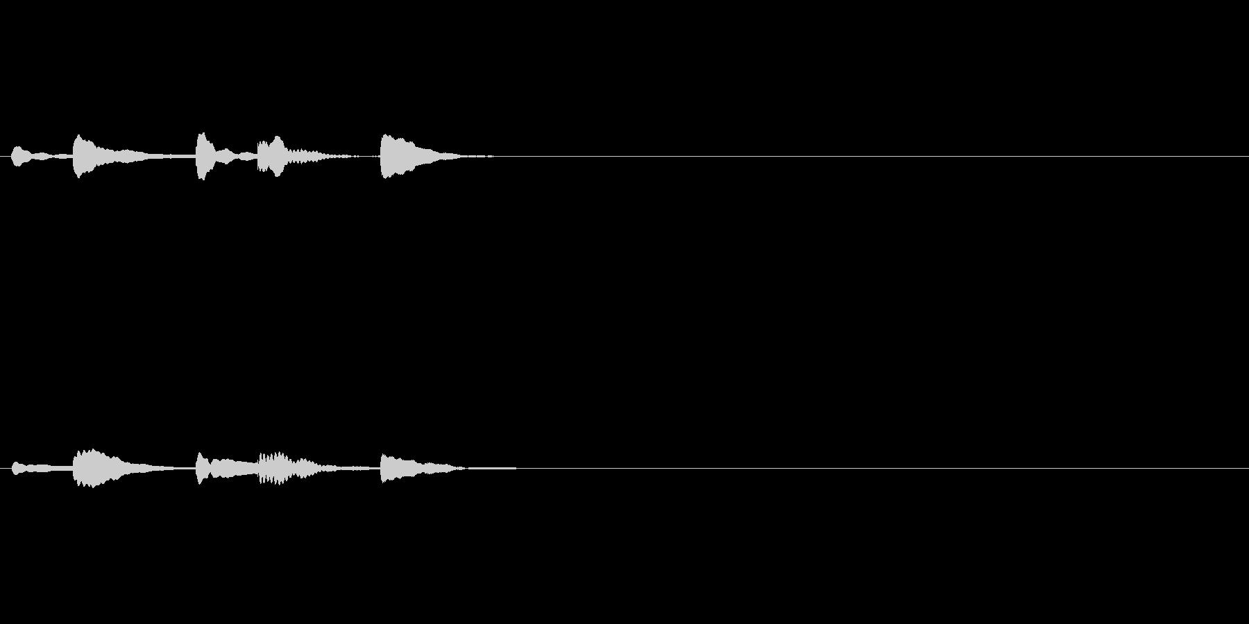 タラッタタンタン(サウンドロゴ)速めの未再生の波形